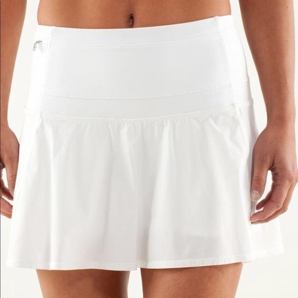 a1351cfa96 lululemon athletica Dresses & Skirts - Lululemon Hot Hitter Skirt White  size 2